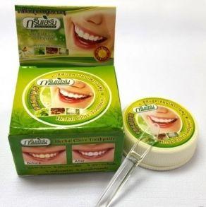 """Тайская круглая Зубная паста""""Зеленые Травы"""" 25 гр"""