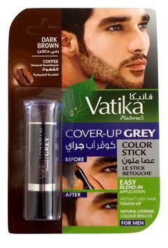 Подкрашивающий карандаш Cover-up Crey color stick Coffee- Dark Brown for Men(темно-коричневый).