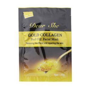 Маска для лица Dear She Gold Collagen 20g